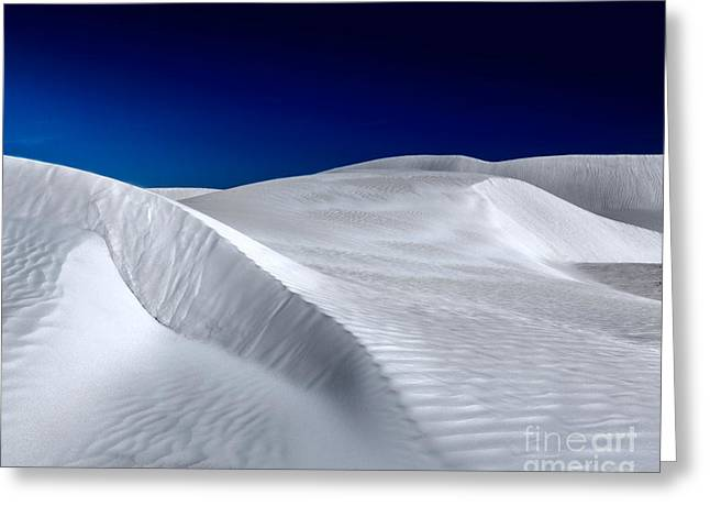 White Sand Dunes Greeting Card by Julian Cook