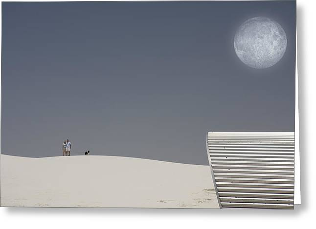 White Sands Moonrise Greeting Card by Bruce Rolff