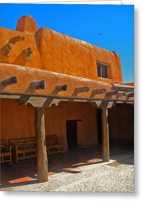 White Sands New Mexico Adobe 03 Greeting Card by Gregory Dyer