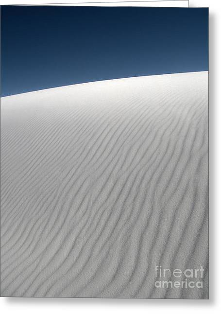 White Sands New Mexico Dune Abstraction Greeting Card by Gregory Dyer