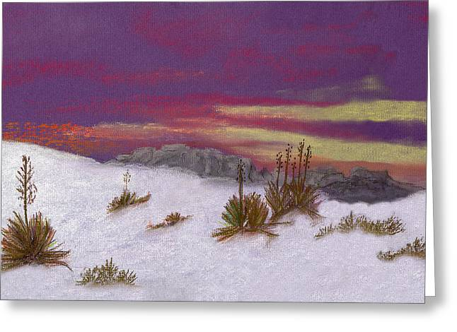 Greeting Card featuring the painting White Sands New Mexico by J Cheyenne Howell