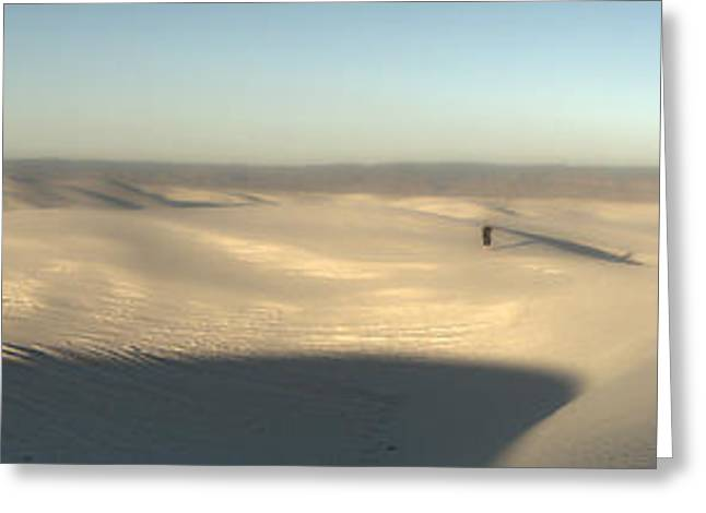 White Sands New Mexico Panorama Greeting Card by Gregory Dyer