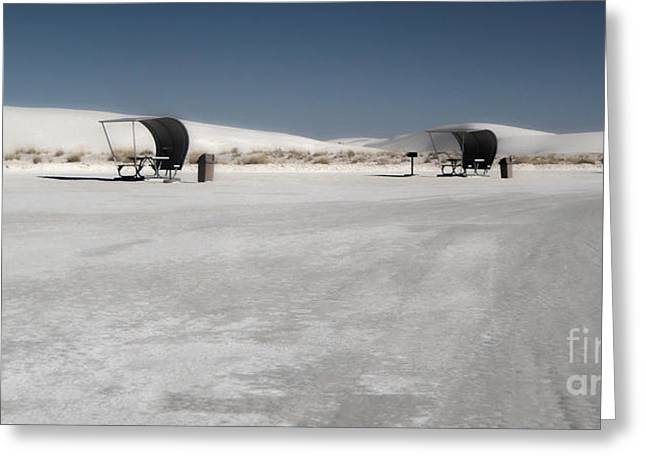 White Sands New Mexico Rest Area Greeting Card by Gregory Dyer