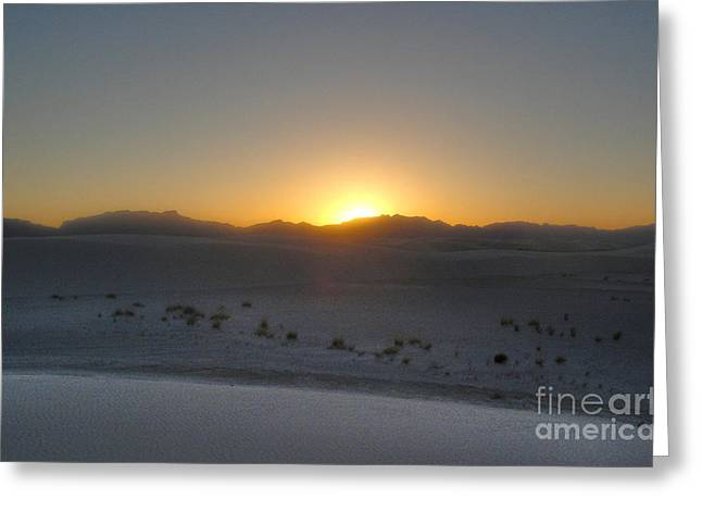 White Sands New Mexico Sunset Greeting Card by Gregory Dyer