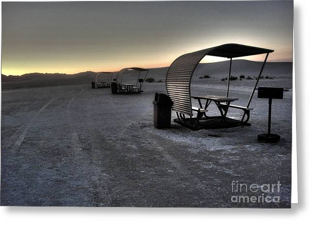 White Sands New Mexico Sunset Twilight 02 Greeting Card by Gregory Dyer