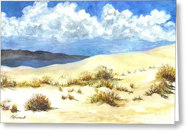 White Sands New Mexico U S A Greeting Card by Carol Wisniewski