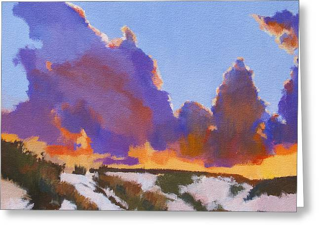 White Sands Sunset Greeting Card by Bernard Marks