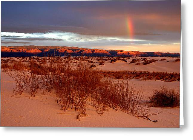 Greeting Card featuring the photograph White Sands Sunset by Christopher McKenzie
