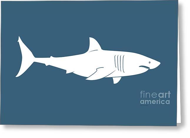 White Shark Greeting Card by Amy Kirkpatrick