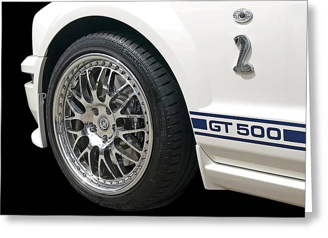 White Shelby Gt500 Greeting Card