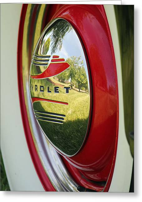 White Sidewalls On Chevy Greeting Card