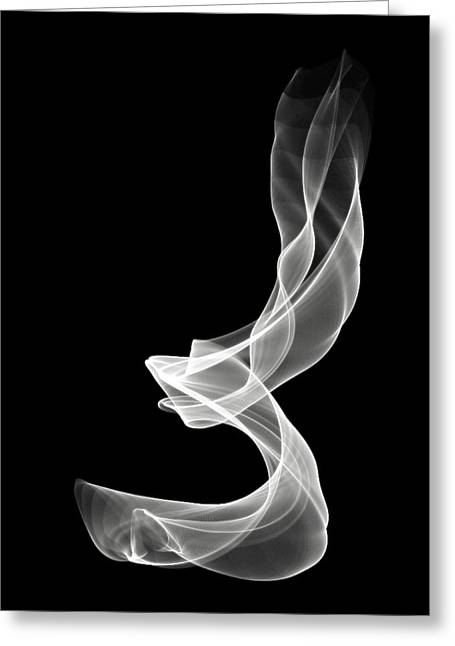 White Smoke Greeting Card by Matthew Angelo