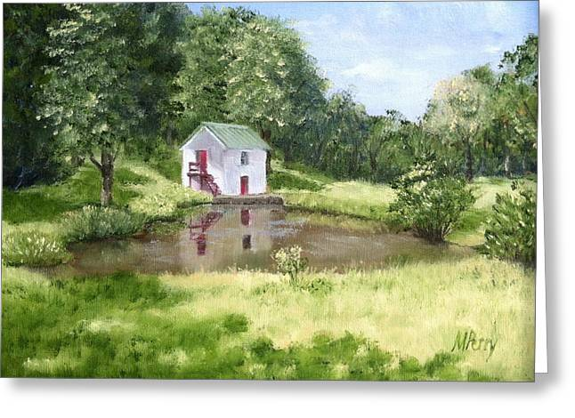 White Springhouse Greeting Card