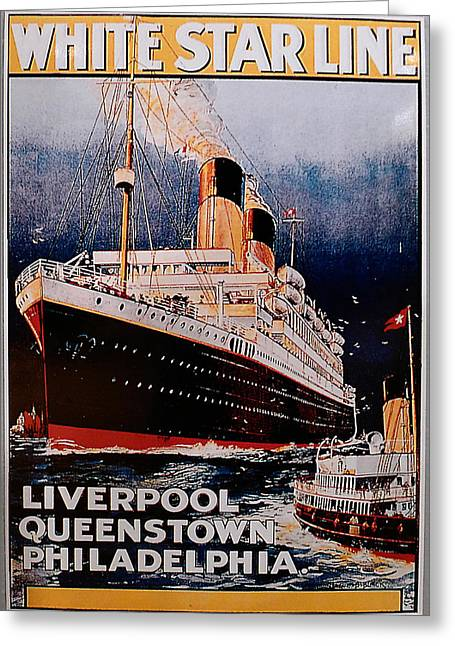 White Star Line Poster 1 Greeting Card