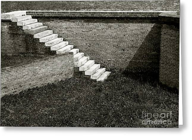 White Steps At Fort Barrancas Greeting Card