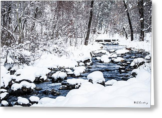 White Stream Greeting Card
