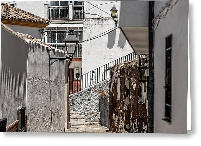 White Streets Of Ronda. Andalusia. Spain Greeting Card