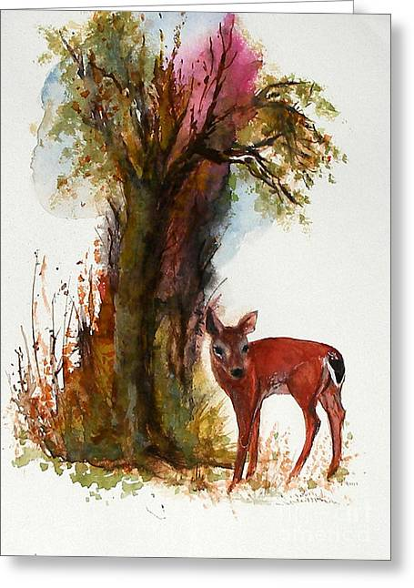 White Tail Greeting Card
