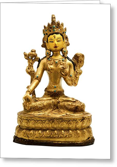 White Tara Greeting Card by Fabrizio Troiani