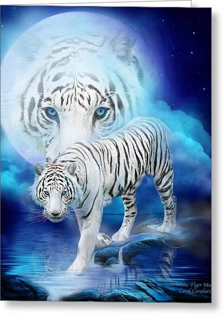 White Tiger Moon Greeting Card