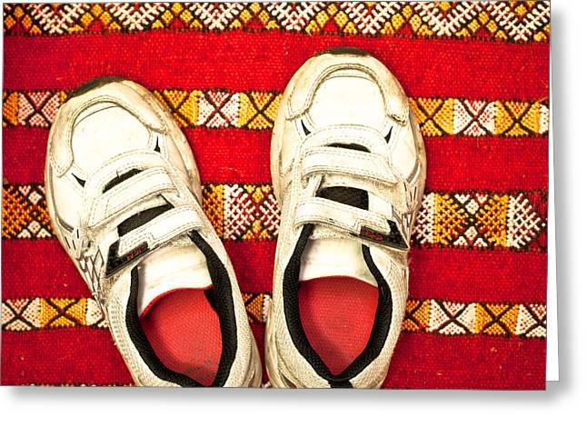 White Trainers Greeting Card