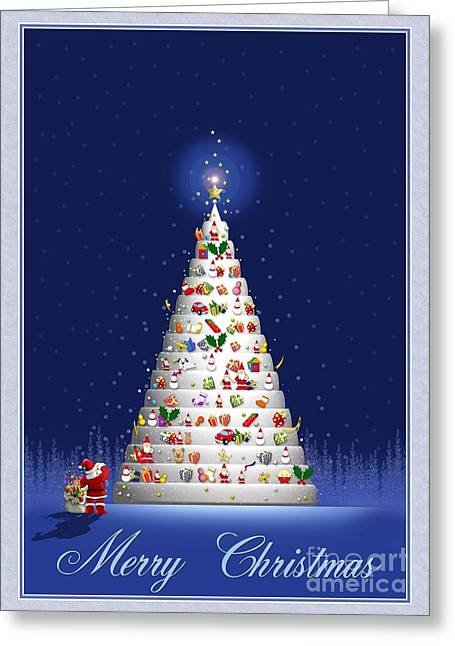 White Tree Christmas Greeting Card