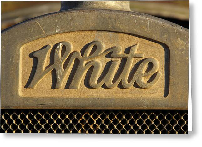 White Truck Emblem  Greeting Card