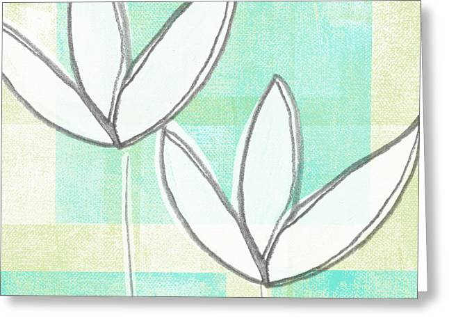 White Tulips Greeting Card by Linda Woods