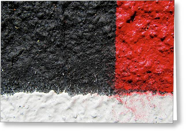 White Versus Black Over Red Greeting Card