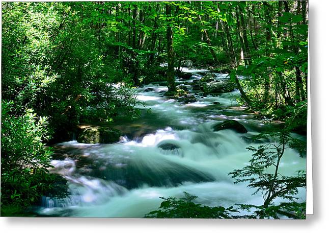 White Water On Little River Greeting Card by Stefan Carpenter