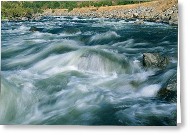 White Water On Payette River In Nez Greeting Card by Panoramic Images