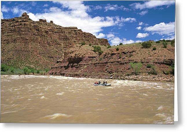 White Water Rafting In Green River Greeting Card by Panoramic Images