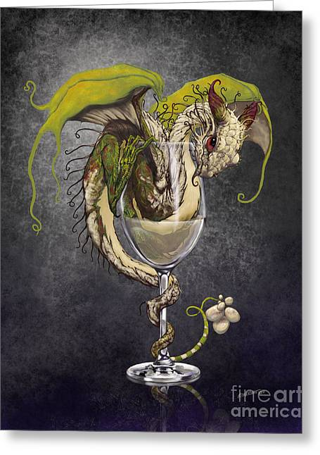 White Wine Dragon Greeting Card by Stanley Morrison