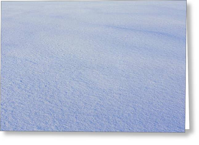 White Winter Snow In Vermont Greeting Card by Panoramic Images