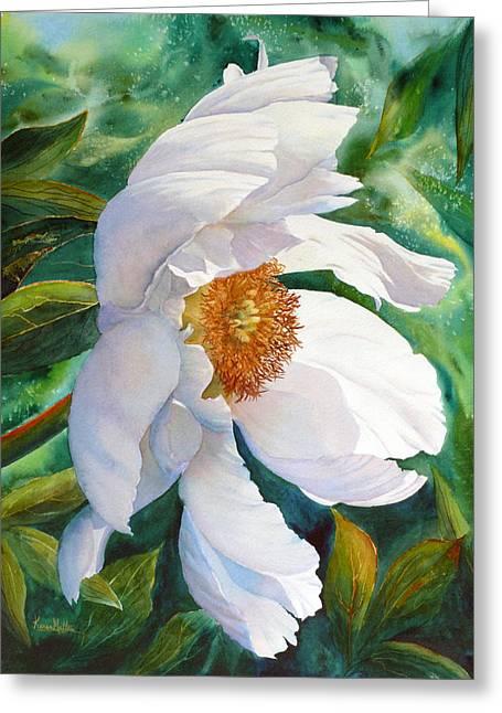 Greeting Card featuring the painting White Wonder by Karen Mattson