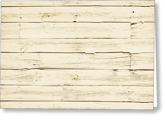 White Wood Greeting Card by P S