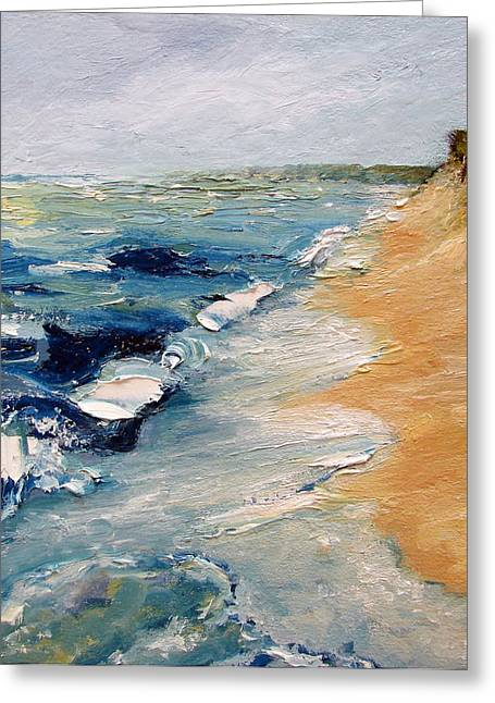 Whitecaps On Lake Michigan 3.0 Greeting Card by Michelle Calkins