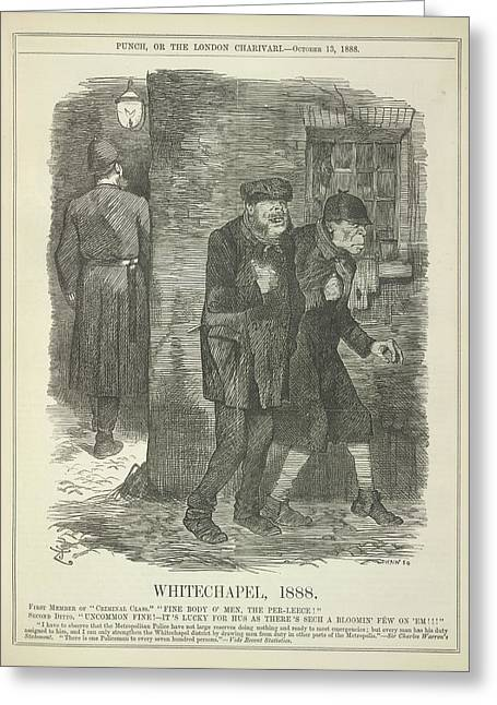 Whitechapel 1888 Greeting Card by British Library
