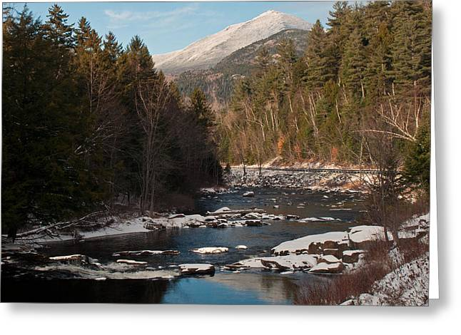 Whiteface Mountain At Monument Falls Greeting Card