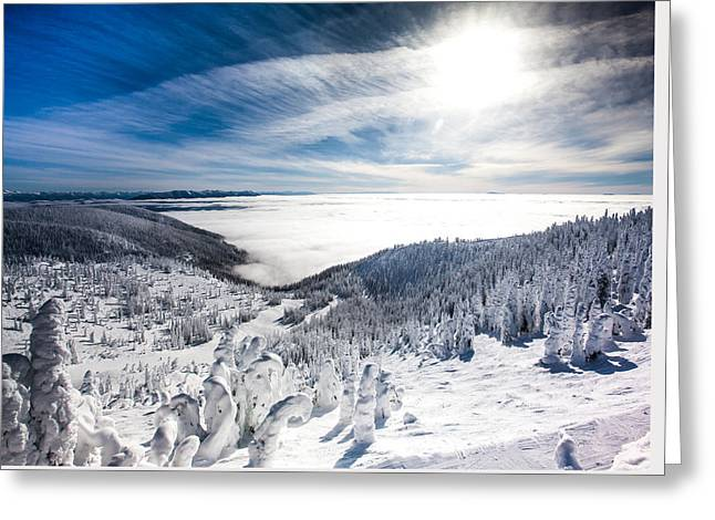 Whitefish Inversion Greeting Card by Aaron Aldrich