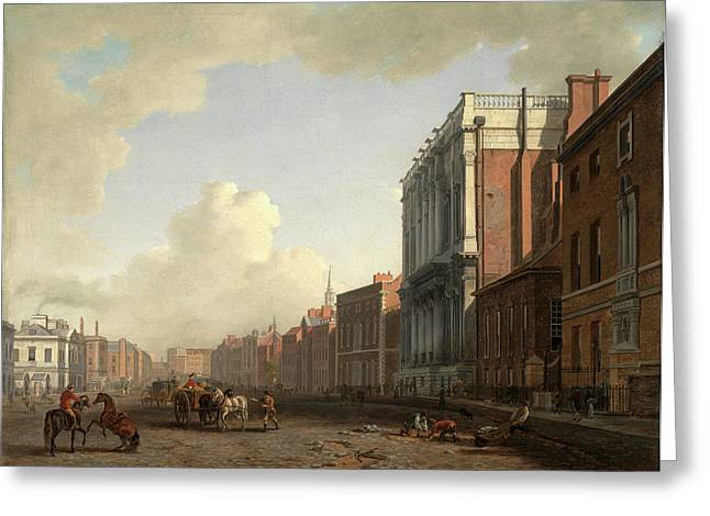 Whitehall, Looking Northeast London Signed Greeting Card by Litz Collection