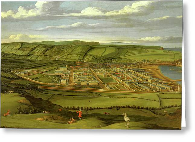 Whitehaven, Cumbria, Showing Flatt Hall Prospect View Greeting Card by Litz Collection