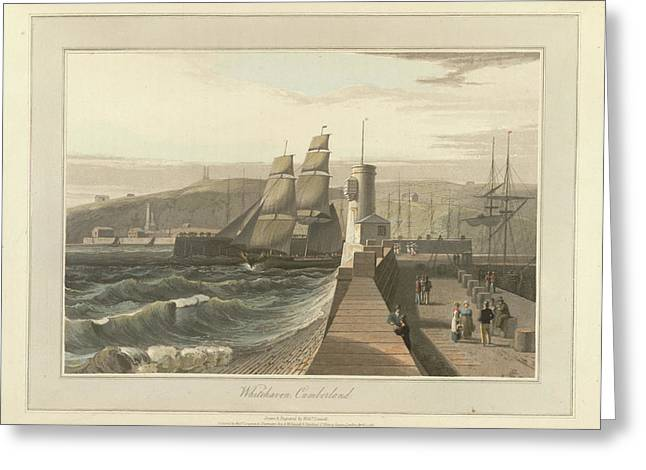 Whitehaven Port In Cumberland Greeting Card by British Library
