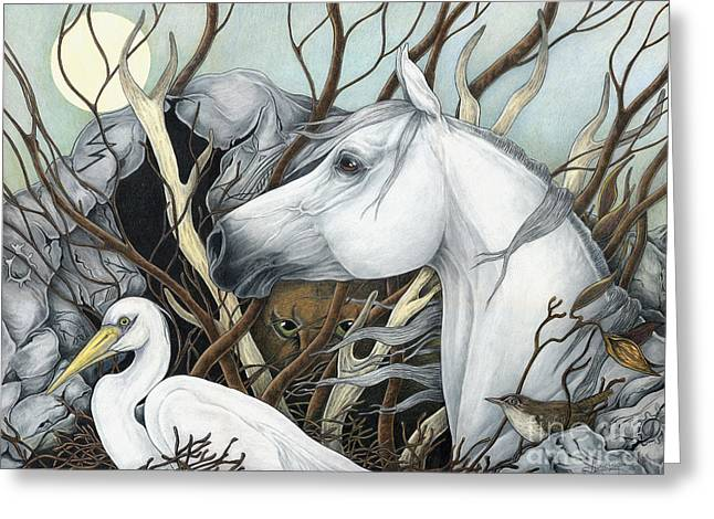 Whitehorse I The Listener's Greeting Card by Leslie Zantow