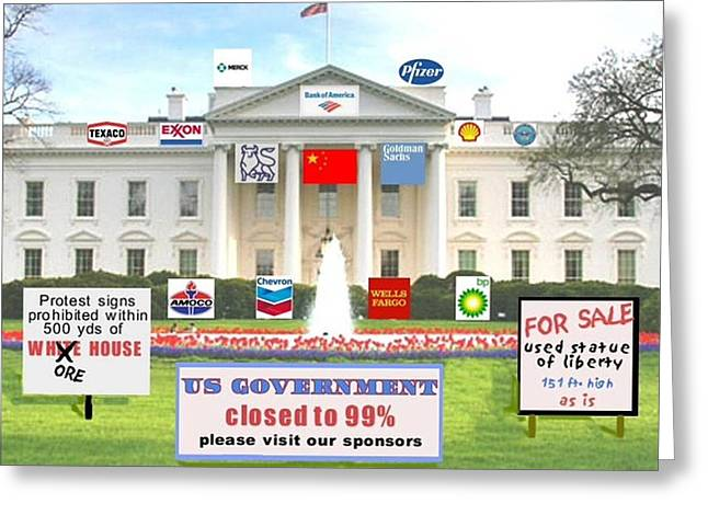 Whitehouse Sponsors  Greeting Card by Robert Stagemyer