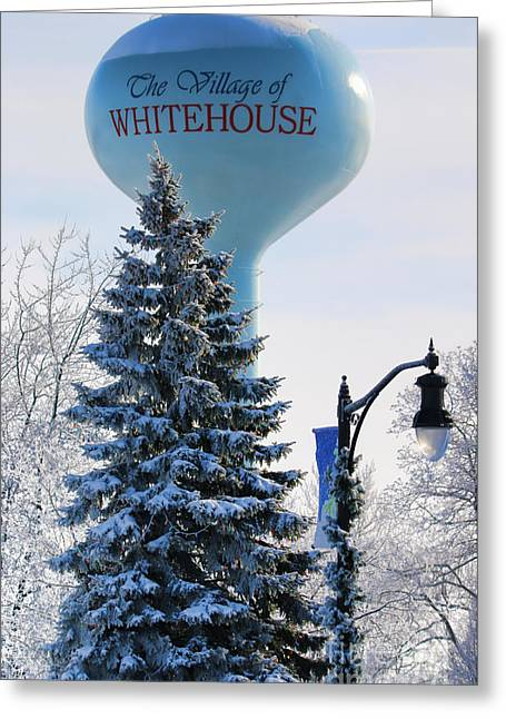 Whitehouse Water Tower  7361 Greeting Card