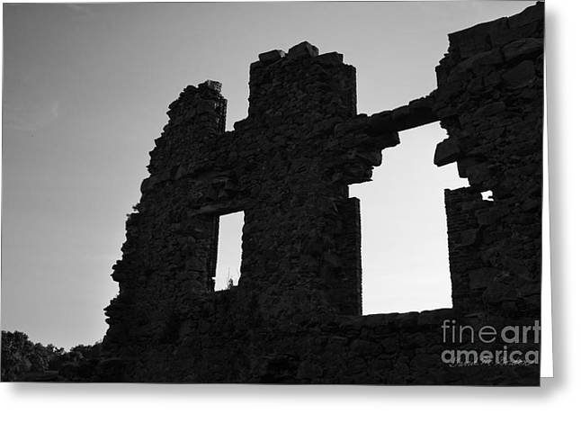 Whites Mill Ruins I Greeting Card by Dave Gordon