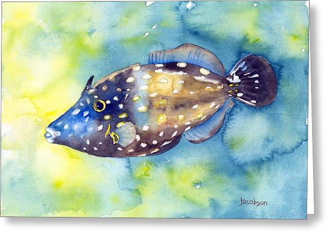 Whitespot Filefish Greeting Card