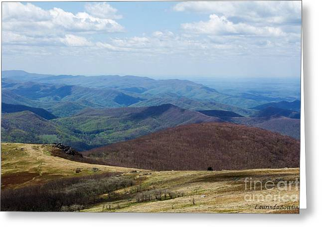 Whitetop Mountain Virginia Greeting Card by Laurinda Bowling