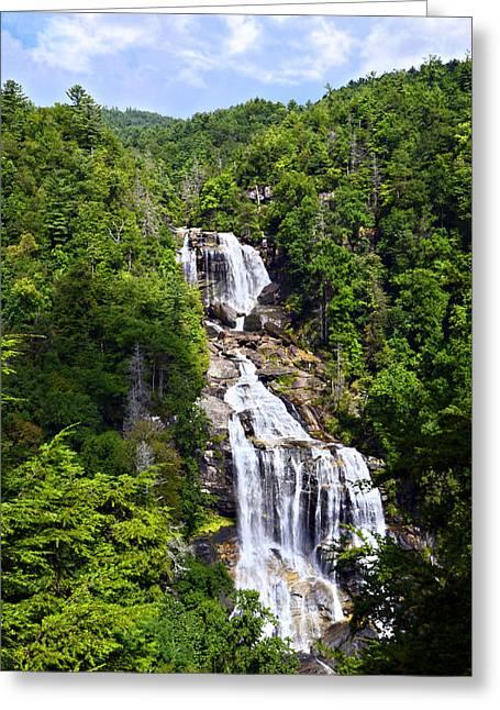 Whitewater Falls Greeting Card by Susan Leggett